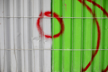 Graffiti on a shipping container