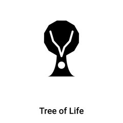 Tree of Life icon vector isolated on white background, logo concept of Tree of Life sign on transparent background, black filled symbol