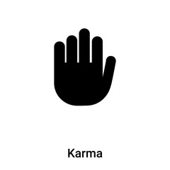 Karma icon vector isolated on white background, logo concept of Karma sign on transparent background, black filled symbol