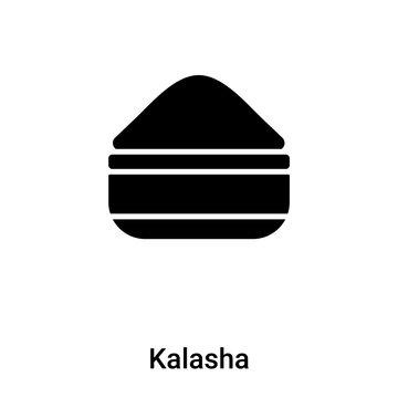 Kalasha icon vector isolated on white background, logo concept of Kalasha sign on transparent background, black filled symbol