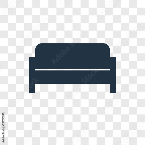 Sofa Icons Isolated On Transparent Background Modern And Editable