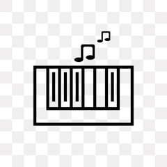 piano class icon on transparent background. Modern icons vector illustration. Trendy piano class icons