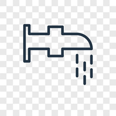 Watertap vector icon isolated on transparent background, Watertap logo design