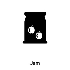 Jam icon vector isolated on white background, logo concept of Jam sign on transparent background, black filled symbol