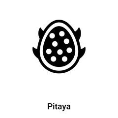 Pitaya icon vector isolated on white background, logo concept of Pitaya sign on transparent background, black filled symbol