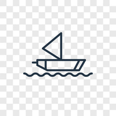 Sailboat vector icon isolated on transparent background, Sailboat logo design