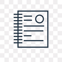 document icon on transparent background. Modern icons vector illustration. Trendy document icons
