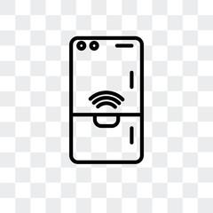Fridge vector icon isolated on transparent background, Fridge logo design