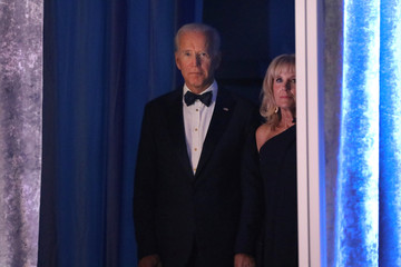 Former U.S. Vice President Joe Biden waits to address the Human Rights Campaign dinner in Washington