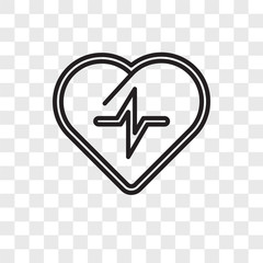Cardiogram vector icon isolated on transparent background, Cardiogram logo design
