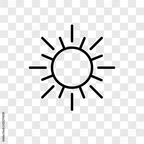 sun icons isolated on transparent background  Modern and