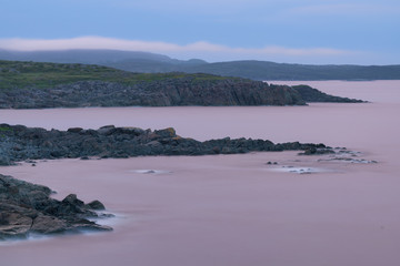 Wall Mural - St. Anthony harbour at twilight in Newfoundland