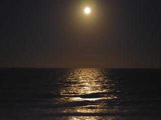 Moonlight Reflection on the Atlantic Ocean