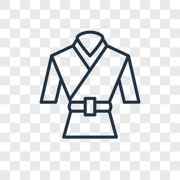 martial art icons isolated on transparent background. Modern and editable martial art icon. Simple icon vector illustration.