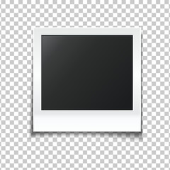 Photo frame isolated on transparent background. Frame of picture for your photography and design. Vector illustration