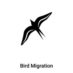 Bird Migration icon vector isolated on white background, logo concept of Bird Migration sign on transparent background, black filled symbol