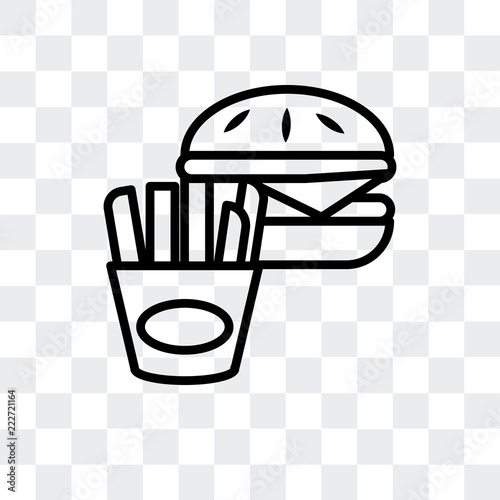 fast food icon isolated on transparent background  Modern