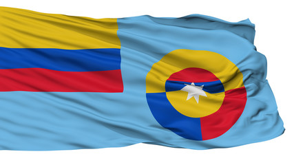 Ensign Of Colombian Air Force Flag, Isolated On White Background, 3D Rendering