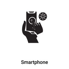Smartphone icon vector isolated on white background, logo concept of Smartphone sign on transparent background, black filled symbol