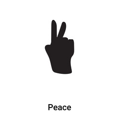 Peace Sign icon vector isolated on white background, logo concept of Peace Sign sign on transparent background, black filled symbol