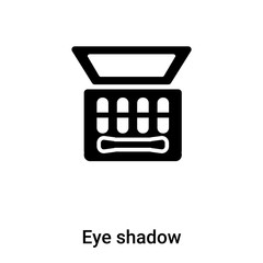 Eye shadow icon vector isolated on white background, logo concept of Eye shadow sign on transparent background, black filled symbol