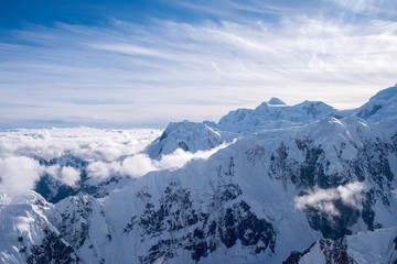 Aerial view of the Wild Alaska Range