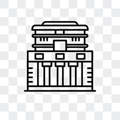 temple of the frescoes icon isolated on transparent background. Modern and editable temple of the frescoes icon. Simple icons vector illustration.