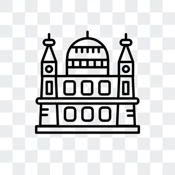 st. paul´s cathedral icon isolated on transparent background. Modern and editable st. paul´s cathedral icon. Simple icons vector illustration.