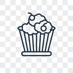 Cupcake vector icon isolated on transparent background, Cupcake logo design