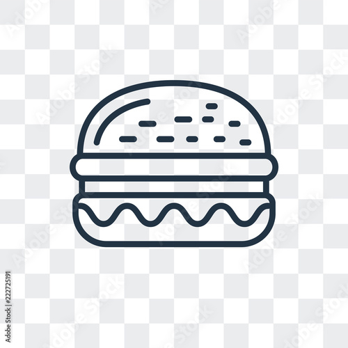 Burger icon free vector