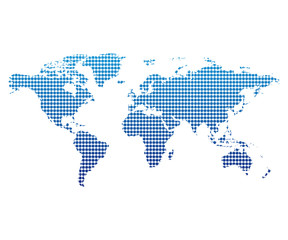 Dotted World Map Vector Illustration Design