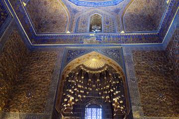 Inside of the Mosque in Samarkand, Uzbekistan