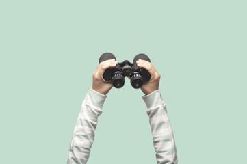 Hands on binocular