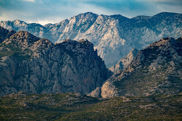Extreme mountains in Paklenica National Park, Velebit, Croatia