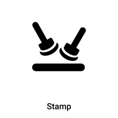 Stamp icon vector isolated on white background, logo concept of Stamp sign on transparent background, black filled symbol