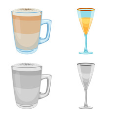 Vector design of drink and bar icon. Collection of drink and party stock symbol for web.
