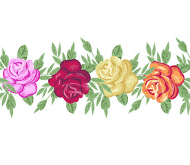 Horizontal floral border