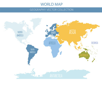 World map elements. Build your own geography info graphic collection