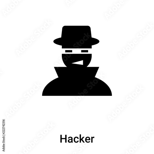 Hacker icon vector isolated on white background, logo concept of