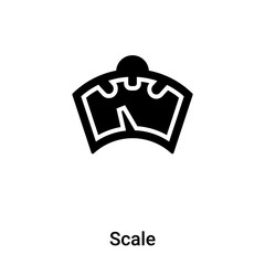 Scale icon vector isolated on white background, logo concept of Scale sign on transparent background, black filled symbol