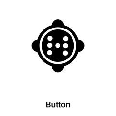 Button icon vector isolated on white background, logo concept of Button sign on transparent background, black filled symbol