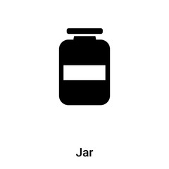 Jar icon vector isolated on white background, logo concept of Jar sign on transparent background, black filled symbol