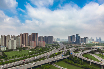the Central business district of Zhengdong new district in Zhengzhou of China