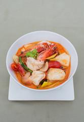 Tom Yum Goong Spicy Sour Soup,famous Thai food cuisine