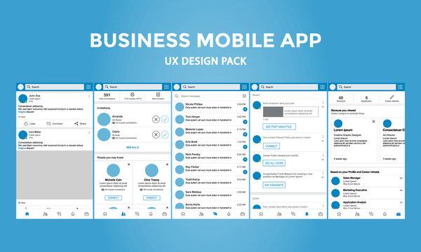 Business Mobile App - UX Design Pack