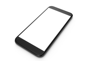3D illustration Cell Phone isolated on white background. Phone with empty space, screen phone.