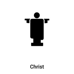 Christ icon vector isolated on white background, logo concept of Christ sign on transparent background, black filled symbol