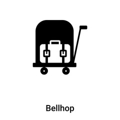 Bellhop icon vector isolated on white background, logo concept of Bellhop sign on transparent background, black filled symbol