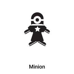 Minion icon vector isolated on white background, logo concept of Minion sign on transparent background, black filled symbol