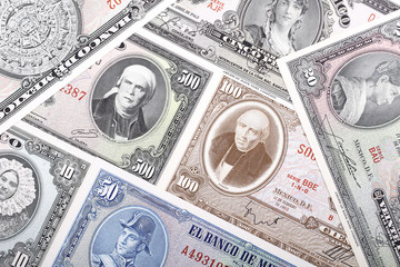 Old Mexican banknotes, a business background